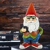 Gartenzwerg Ornament, Lustiger Gnom Frecher Gartenzwerg Harz Garten Zwerg Dekoration Lustig Gartenzwerg Figuren Deko Für Die Gartendekoration
