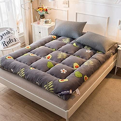 KMatratze Materasso futon Materasso per Pavimenti Giapponesi, Pieghevole Roll up Tatami Tatami Pad per dormito, stuoia addensa, Ragazzi materassino dormitorio Ragazze (Color : F, Size : 180x200cm)
