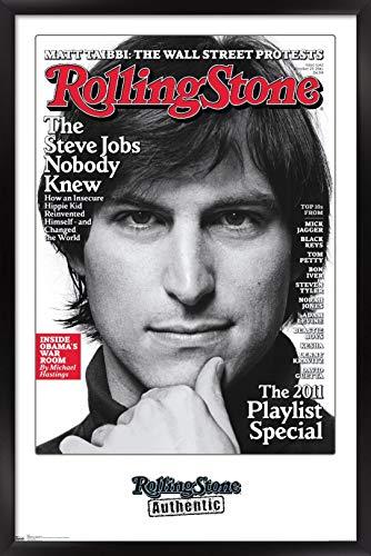 Trends International Rolling Stone Magazine - Steve Jobs 11 Wall Poster, 14.725' x 22.375', Black Framed Version