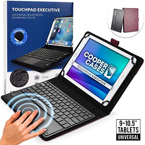 Cooper Panel Táctil Ejecutiva [Teclado de Ratón Multitáctil] Funda para Tableta de 9-10.5 Pulgadas | Ajuste Universal | iPadOS, Android, Windows (Morado)