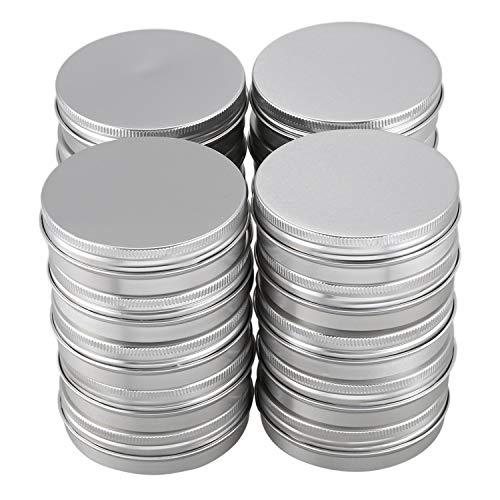Varadyle 20 x Bote de cosmeticos vacio Contenedor Tarro de Aluminio de Crema de Labio Tapon de Rosca 100ml