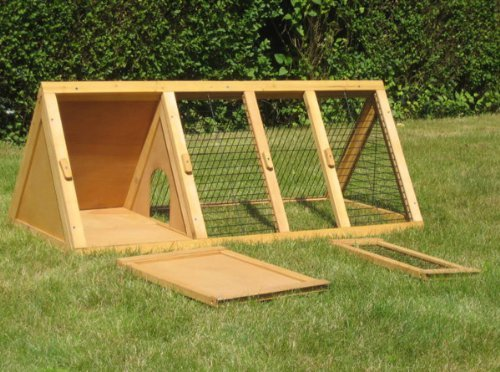 BUNNY BUSINESS Spitzer Laufstall mit Gehäuse, für Kaninchen°/°Meerschweinchen, 1,20°m - 4