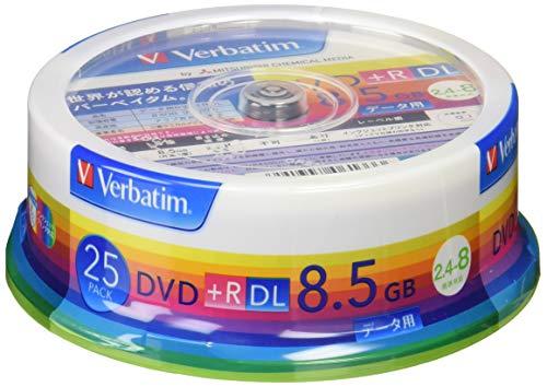 三菱ケミカルメディア Verbatim 1回記録用 DVD+R DL (片面2層/2.4-8倍速/25枚) ホワイト  B002NMXHEO 1枚目