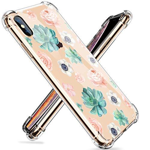 Homikon Silikon Hülle Blume Muster Karikatur TPU Tasche Handyhülle Transparente Durchsichtig Kirstall Clear Dünn Schutzhülle Stoßdämpfend Soft Bumper Case Kompatibel mit iPhone XR - #15