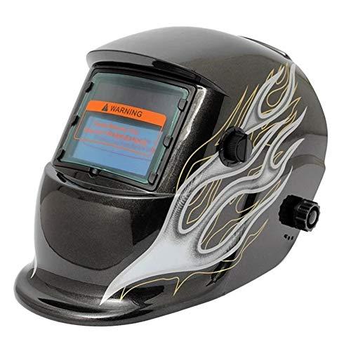 Automatische Schweißhelm Schweißmaske Verdunklungs Schweißer Schweißhelm Maske Black Flame Solar-Auto Maskenschweißen Schweißmaske Schutzhelm