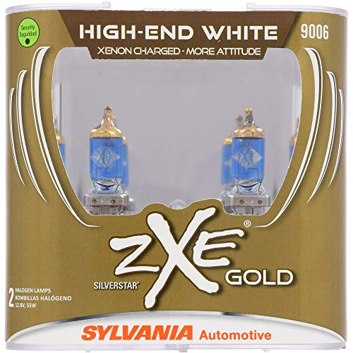 SYLVANIA - 9006 (HB4) SilverStar zXe GOLD High Performance Halogen Headlight Bulb - Headlight & Fog Light, Bright White Light Output,...