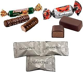 Ukrainian Assorted Chocolate Candy by Roshen 1lb (Leshchina, Chervoniy Mak)