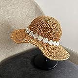 Zun068 Sombreros de Sol para Mujer, Sombrero de Paja para Mu