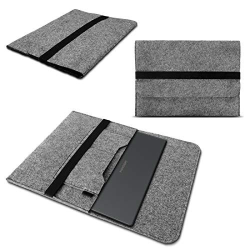 Notebook Sleeve Tasche passend für Medion Akoya E15302 Hellgrau Grau Dunkelgrau Sleeve Hülle Filz Cover Schutzhülle, Farbe:Grau