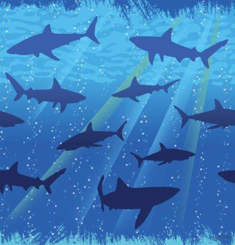 1 Nappe * Requins * pour fêtes et Anniversaire/Fête/anniversaire d'enfant table Cover Cloth Thème Décoration Hai Requin Shark poissons