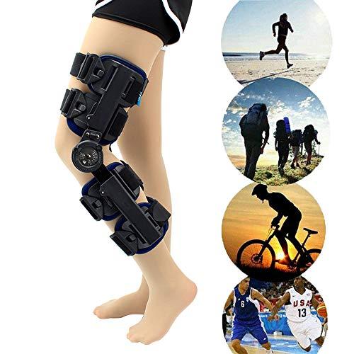 Rodillera Ortopedica Articulada, Rodillera Ortopedica, para ACL/PCL/Menisco/Ligamento/Lesiones Deportivas, ortesis ortopédica de Rodilla Ajustable con bisagras para Hombres, Mujeres