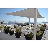 Restseller24 Sonnensegel 3x5m grau rechteckig wasserfest UV-Schutz Sonnenschutz aus reißfestem...