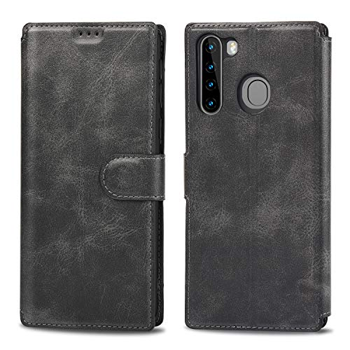 ZSTVIVA Galaxy A21 Case,Wallet Case for Samsung Galaxy A21,PU Leather Flip Card Holder Kickstand Design for Car Mount, Card Slots Magnetic Closure Shockproof Case Cover for Samsung Galaxy A21 (Black)
