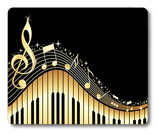 Old Vintage Abstract Piano and Music Note Customized Rectangle Non-Slip Rubber Mouse pad Gaming Mouse Pad by Smooffly