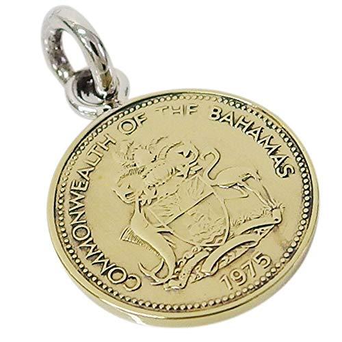 本物のバハマのコインペンダント(2) メンズ レディース ネックレス 硬貨 南米
