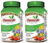 Osmocote 277160 Flower and Vegetable Smart-Release Plant Food, 14-14-14, 1-Pound Bottle (Рack of 2)