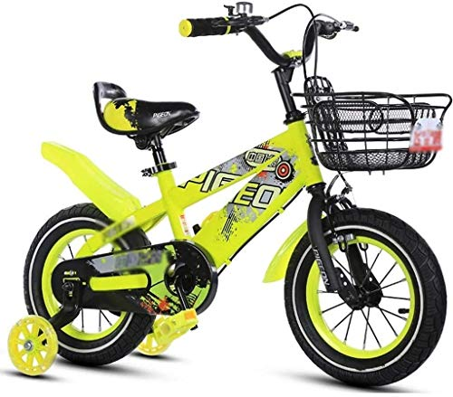 N&I Bicycles Exercise Bike for Kids Road Bike for Kids Exercise Bike Outdoor Mountain Bike Tricycle for Kids Very Cool Bike Yellow 35,6 cm