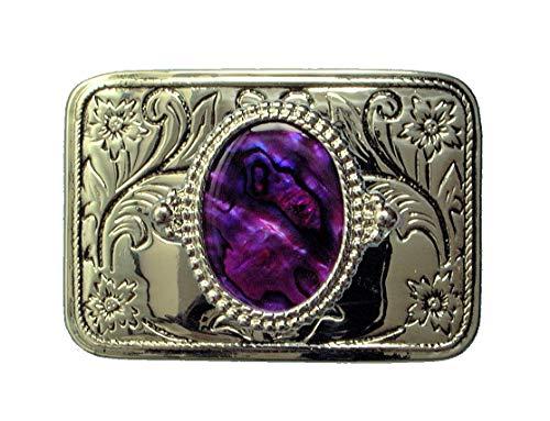 Tanside Limited uomo Viola Purple Etichettalia unica Fibbia per Cinture