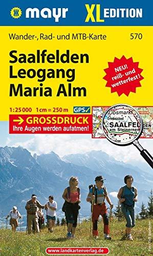 Saalfelden - Leogang - Maria Alm XL: Wander-, Rad- und Mountainbikekarte. GPS-genau. 1:25000 (Mayr Wanderkarten)