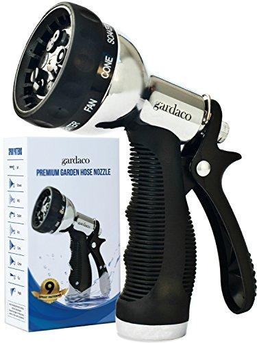 Premium Metal Hose Nozzle Garden Sprayer -...