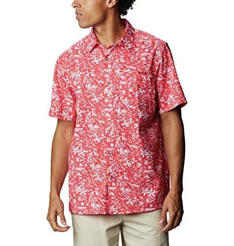 Columbia Super Slack Tide Camp Camisa de Manga Corta para Hombre, Hombre, Super Slack Tide - Camiseta de Campamento, 165376, Color, Extra-Small