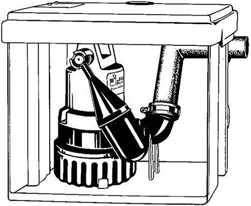 Jung Pumpen JP01063 Überflurbehälter Hebefix ohne Pumpe