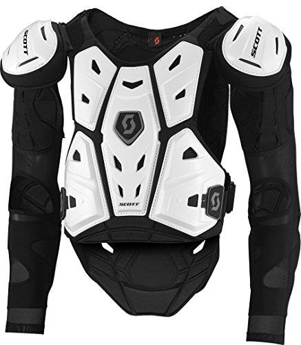 Scott Commander 2 MX Motocross DH Protektorenjacke weiß/schwarz 2017: Größe: L