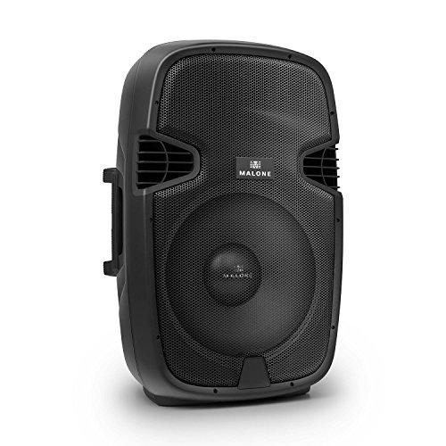 MALONE PW-2115A - aktive PA Box, PA-Aktiv-Lautsprecher, 760 Watt Peak-Leistung, 38,1 cm (15'')-Subwoofer, Frequenzbereich: 40 Hz - 20 kHz, Norm-Stativflansch, schwarz