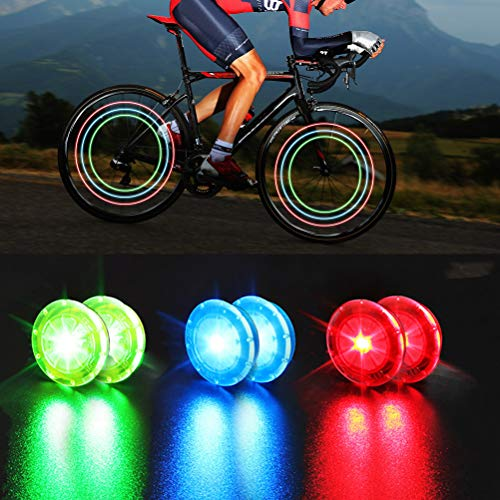 Custoo Luz LED para radios de bicicleta, resistente al agua, recargable por USB, 3 modos, resistente al agua, para inducción, para ciclismo seguro