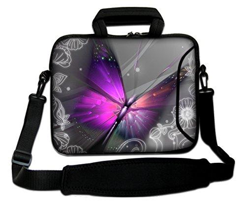 Ektor Ltd 13' Inches Design Laptop Notebook Sleeve Soft Case Bag With Handle and Shoulder Strap
