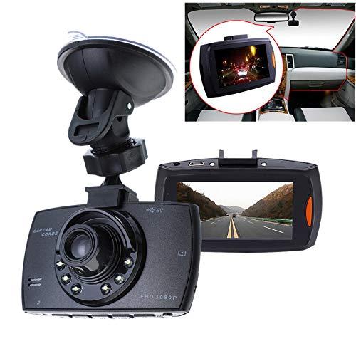 SODIAL 2.2 Pulgadas CáMara Grabadora De ConduccióN 1080P HD De Coche Grabadora De Video con Lente Gran Angular De 90 Grados