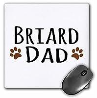 Briard Dog Dad–Doggie by Breed–ブラウンMuddy Paw Prints Love–マウスパッド、8× 8インチ(MP 153873_ 1)