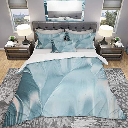 788 Duvet Cover 3 Piece Set Ultra Soft Microfiber Bedding Set Blue Water I Transitional Design