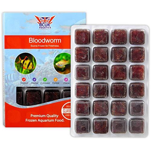 BCUK Frozen Fish Food Bloodworm Blister Pack 100g x10