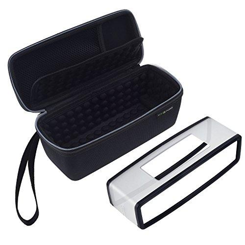 Eco-Fused Tragetasche und TPU-Hülle für Bose Soundlink Mini 1 und 2 - Schutz und Transport - Luftgepolsterte Innenausstattung für Lautsprecher und Dock - Mesh-Tasche - Trageschlaufe