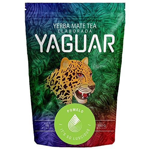 Yerba Mate Yaguar Pomelo | Mate Tee mit Pampelmuse Früchten | Brasilianischer Mate Tee | Hohe Qualität | Erfrischender & energetisierender Mate Tee (500g)