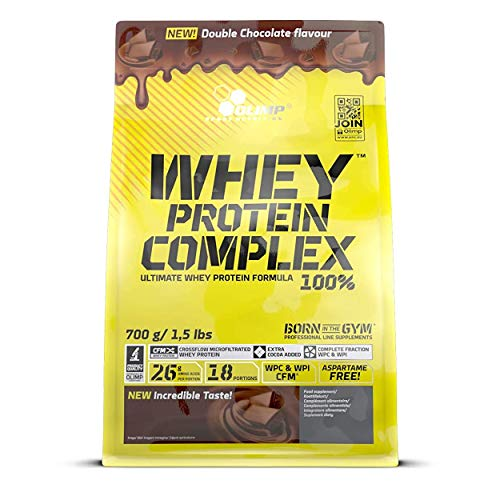 Olimp Whey Protein Complex 100% - Double Chocolate  Powder Eiweiß-Pulver mit BCAA-Aminosäuren, 700 g