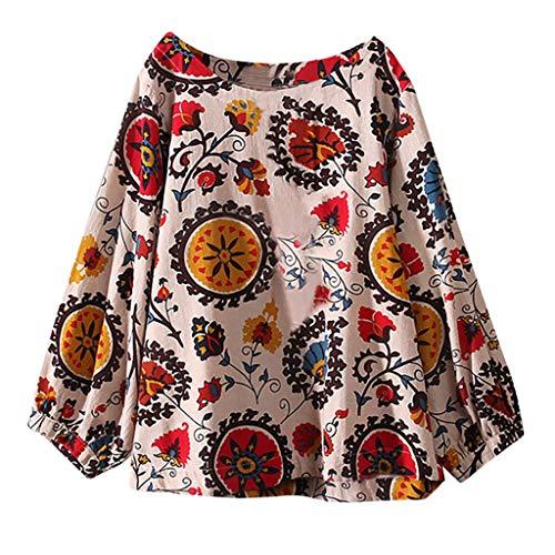 Luckycat Mujeres Casual Tallas Grandes Bohemia Camiseta de Manga Larga Elegante Cuello V T-Shirt Camisa Pañuelo Dobladillo Túnica Tops Ropa De Mujer En Oferta Otoño Abrigos De Mujer …