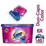 Spee Duo-Caps Color, Waschmittel, 240 (6 x 40) Waschladungen mit mehr Frische-Gefühl