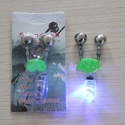 SeniorMar Veilleuse de pêche à LED électronique, Signal lumineux de pêche, Cloche de Poisson, lumière d'alarme, Accessoires pour engins de pêche