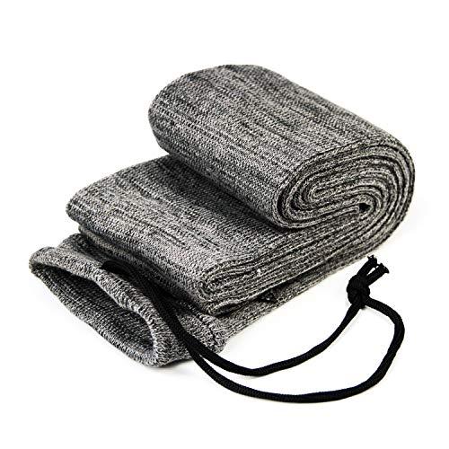 GUGULUZA - Funda para arco (68 pulgadas, funda para calcetines, tela tratada de silicona, color gris