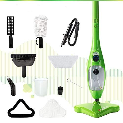 H2O Mop X5 Basic Mop 5 in 1 All Purpose Hand Held Steam Cleaner for Home Use, with 11 Piece Accessory Kit