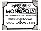 Monopoly Instruction Booklet / Manual (NES Manual Only) (Nintendo NES Manual)