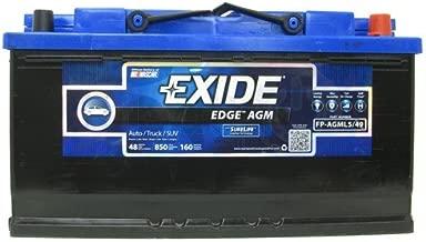 Exide Edge FP-AGML5/49 Flat Plate AGM Sealed Automotive Battery