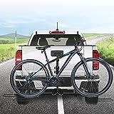 Kacsoo 2 portabicicletas portador de enganche trasero para coches, camiones, furgonetas, portabicicletas, plataforma de enganche de enganche para bicicleta, portabicicletas para viajes y tránsito