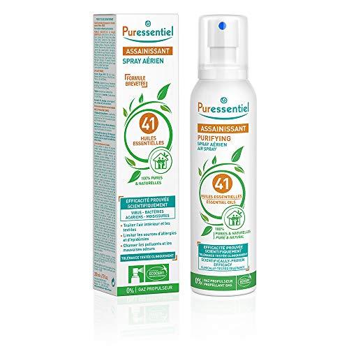 Puressentiel - Purificante - Spray Aereo Purificante con 41 Aceites Esenciales - 100% puros y naturales - Repire un aire purificado - 200ml