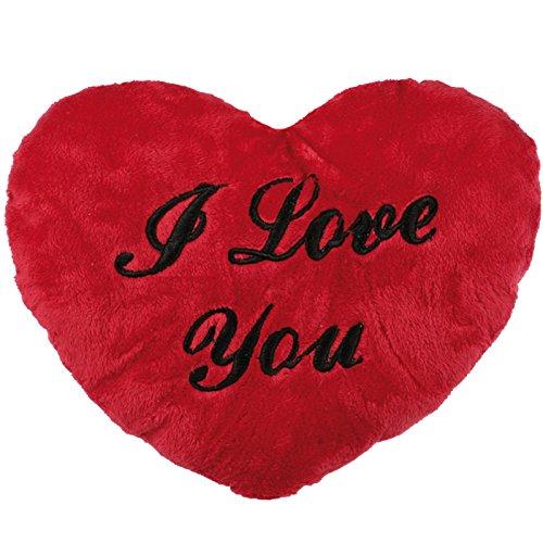 I Love You RED Heart Shape Cushion Gift Anniversary Present Soft Plush Valentine