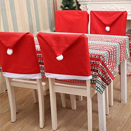 YWCXMY-LDL 6 Weihnachtsmützen Weihnachtsmann-Stuhl Set Weihnachts Stuhl rückseitige Abdeckung, Urlaub dekoriert Dining Stuhl-Abdeckung (Color : A01)