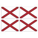 KIWISTAR Aufkleber 4,5 x 3 cm Alabama Montgomery - Bundesstaat Autoaufkleber USA Flagge Länder Wappen Fahne Sticker Kennzeichen