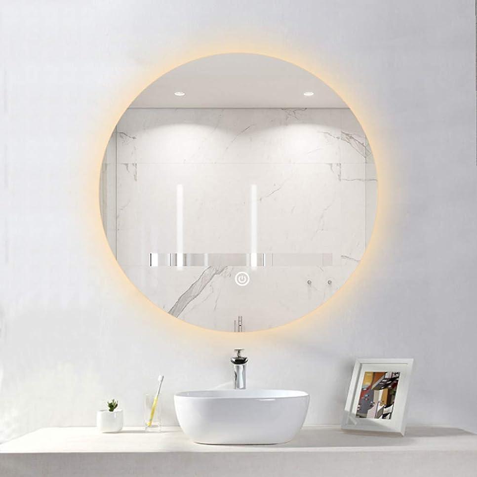扱う主権者失速浴室用化粧鏡 LED照明付きバスルームミラー、ライト付きウォールマウントバニティミラー、デミスターパッド、タッチセンサースイッチ、メイクアップ化粧品用